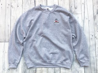 SUNDAYS BEST [サンデイズ ベスト] STORE MANAGER EMBROIDERY CREW NECK SWEAT/H.GREY