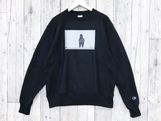 BEDLAM [べドラム] OUTLAW CHAMPION CREWNECK SWEAT/BLACK