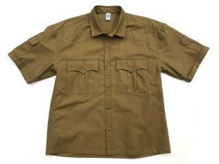COMFORTABLE REASON [コンフォータブル リーズン] Panama cloth Safari shirts/OCHER