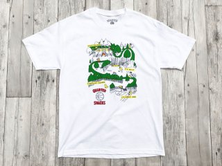 QUARTER SNACKS [クウォータースナックス] COURTS TEE/WHITE