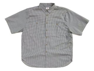 NO ROLL [ノーロール] RELAX GINGHAM S/S SHIRT/OLIVE