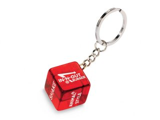 IN-N-OUT BURGER [インアンドアウト バーガー] DICE KEYCHAIN