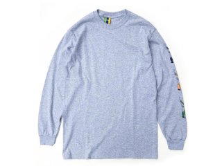 BEDLAM [べドラム] BROTHERS L/S TEE/H.GREY