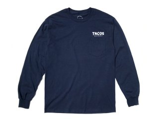 SUNDAYS BEST [サンデイズ ベスト] TACOS RECORDS STAFF POCKET L/S TEE