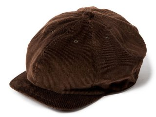 JUST RIGHT [ジャストライト] CLASSIC SPORTS NEWSBOY CAP/CORDS BROWN