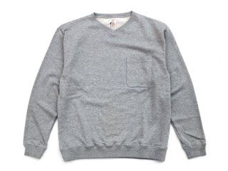 NOROLL [ノーロール] AALTO V NECK SWEAT/HEATHER GREY