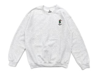 SUNDAYS BEST [サンデイズ ベスト] HULA GIRL CREW NECK SWEAT/ASH