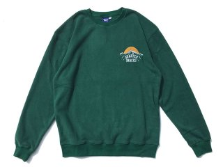 QUARTER SNACKS [クウォータースナックス] MOUNTAIN LOGO MICROFLEECE CREWNECK