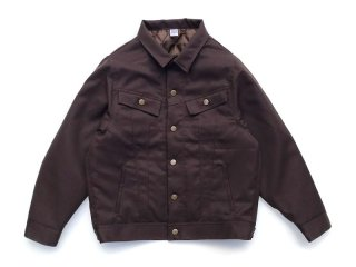 COMFORTABLE REASON [コンフォータブル リーズン] Daily Trucker Jacket/BROWN