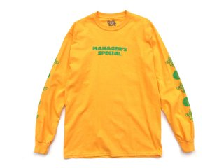 MANAGER'S SPECIAL [マネージャーズスペシャル] EL GERENTE LONG SLEEVE TEE/GOLD