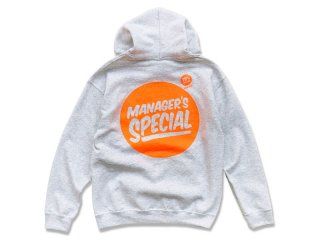 MANAGER'S SPECIAL [マネージャーズスペシャル] VALUE SIZE LOGO PULLOVER HOODY/ASH