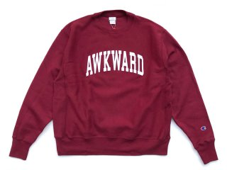 MANAGER'S SPECIAL [マネージャーズスペシャル] AWKWARD CHAMPION REVERSE WEAVE CREWNECK SWEAT/BURGANDY