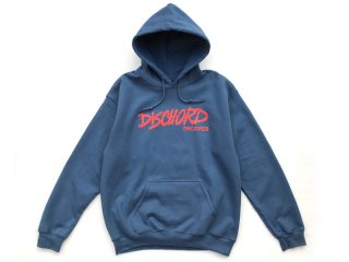 DISCHORD RECORDS [ディスコード レコード] OLD DISCHORD LOGO HOODED SWEAT/INDIGO BLUExORANGE