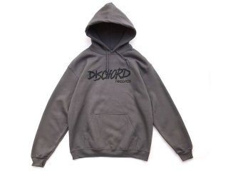 DISCHORD RECORDS [ディスコード レコード] OLD DISCHORD LOGO HOODED SWEAT/CHARCOALxBLACK