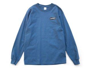 DISCHORD RECORDS [ディスコード レコード] DISCHORD BOX LOGO LONG-SLEEVE TEE/INDIGO BLUE