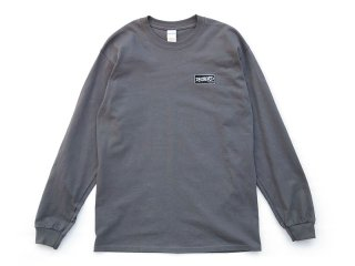 DISCHORD RECORDS [ディスコード レコード] DISCHORD BOX LOGO LONG-SLEEVE TEE/CHARCOAL