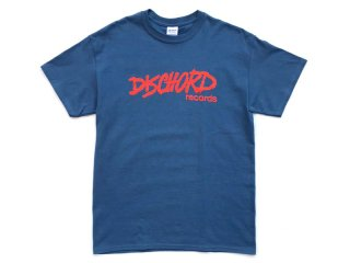 DISCHORD RECORDS [ディスコード レコード] OLD DISCHORD LOGO TEE/INDIGO BLUExORANGE