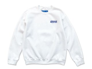 SUNDAYS BEST [サンデイズ ベスト] DUCK EMBROIDERY CREW NECK SWEAT/WHITE