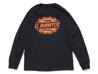 RESTAURANT [レストラン] EL BURRITO'S SKATE AMIGOS POCKET LONG SLEEVE TEE/BLACK