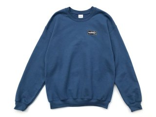 DISCHORD RECORDS [ディスコード レコード] DISCHORD BOX LOGO CREWNECK SWEAT/INDIGO BLUE