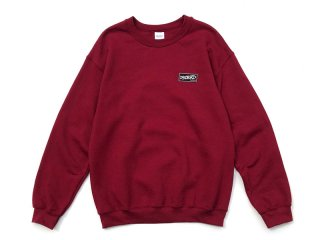 DISCHORD RECORDS [ディスコード レコード] DISCHORD BOX LOGO CREWNECK SWEAT/GARNET