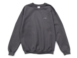 DISCHORD RECORDS [ディスコード レコード] DISCHORD BOX LOGO CREWNECK SWEAT/CHARCOAL