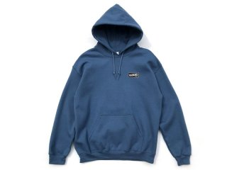 DISCHORD RECORDS [ディスコード レコード] DISCHORD BOX LOGO HOODED SWEAT/INDIGO BLUE