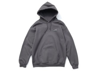DISCHORD RECORDS [ディスコード レコード] DISCHORD BOX LOGO HOODED SWEAT/CHARCOAL