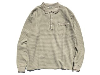COMFORTABLE REASON [コンフォータブル リーズン] Wiseguy Waffle Polo/PALE GREEN