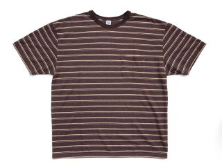COMFORTABLE REASON [コンフォータブル リーズン] Pique Border S/S Pocket Tee/Brown