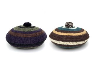 COMFORTABLE REASON [コンフォータブル リーズン] Stripe Tam O'Shanter Hat