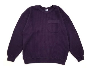 COMFORTABLE REASON [コンフォータブル リーズン] Big Waffle Sweat Shirts/GRAPE