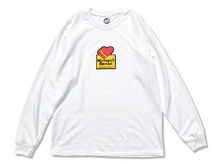 MANAGER'S SPECIAL [マネージャーズスペシャル] LOVE LONG SLEEVE TEE/WHITE