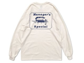MANAGER'S SPECIAL [マネージャーズスペシャル] GRILLING LONG SLEEVE TEE/NATURAL