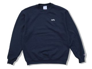 JHAKX [ジャークス] WOOD PLANK EMBROIDERY CREWNECK/NAVY