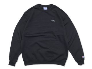 JHAKX [ジャークス] WOOD PLANK EMBROIDERY CREWNECK/BLACK