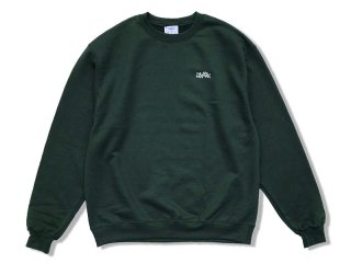 JHAKX [ジャークス] WOOD PLANK EMBROIDERY CREWNECK/GREEN