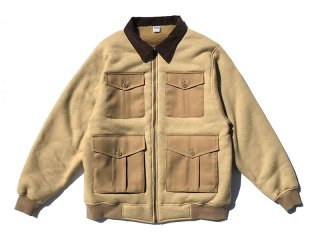 COMFORTABLE REASON [コンフォータブル リーズン] Boa FLeece Pilot Jacket/CAMEL