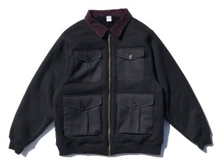COMFORTABLE REASON [コンフォータブル リーズン] Boa FLeece Pilot Jacket/Black