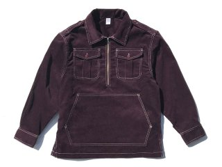 COMFORTABLE REASON [コンフォータブル リーズン] Corduroy PO Shirts Jacket/PURPLE