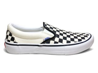 VANS [バンズ] SLIP-ON PRO/CHCKRBRD BLK-WHT