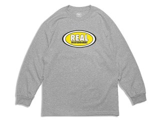 REAL SKATEBOARDS [リアル・スケートボード] OVAL LOGO L/S TEE
