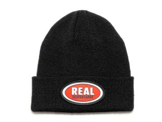 REAL SKATEBOARDS [リアル・スケートボード] OVAL LOGO BEANIE