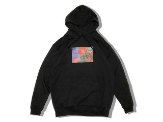JHAKX [ジャークス] Shimanto Flowers Photo Hoodie/BLACK