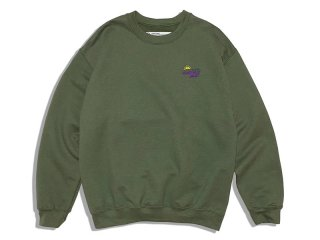 SUNDAYS BEST [サンデイズ ベスト] SUNTACO EMBROIDERY CREW NECK SWEAT/OLIVE