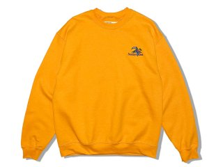 SUNDAYS BEST [サンデイズ ベスト] TREASURE ISLAND EMBROIDERY CREW NECK SWEAT/GOLD