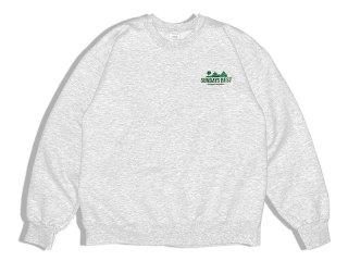 SUNDAYS BEST [サンデイズ ベスト] NATIONAL PARK SOUVENIR CREW NECK SWEAT/ASH