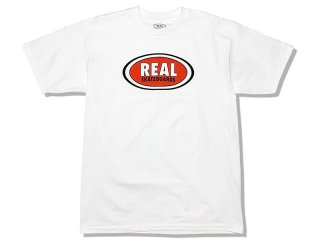 REAL SKATEBOARDS [リアル・スケートボード] OVAL LOGO TEE