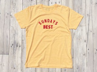 SUNDAYS BEST [サンデイズ ベスト] LOGO TEE/HEATHER YELLOW