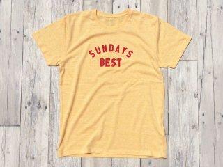 SUNDAYS BEST [サンデイズ ベスト] LOGO TEE/HEATHER YELLOW